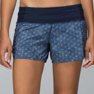 Lululemon Run Times Short *4-way Stretch in Sashico Star Inkwell Ghost / Inkwell